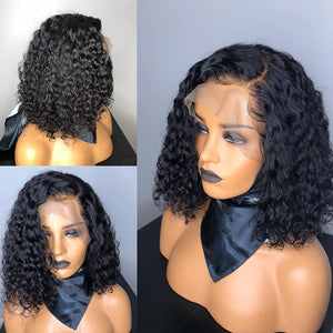 Links 13X4 Short Curly Bob Wigs | Lace Front Human Hair Wigs  | Pre Plucked