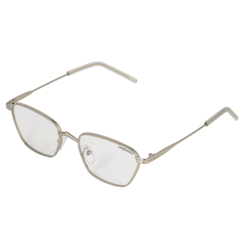 Andreas Silver Transparent Edition Trapezoid Sunglasses