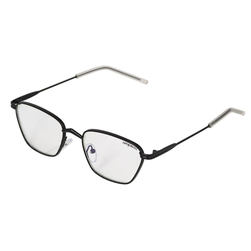 Andreas Black Transparent Edition Trapezoid Sunglasses