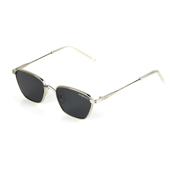 Andreas Silver Black Edition Trapezoid Sunglasses