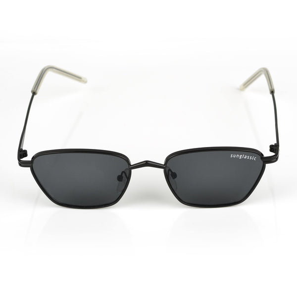Andreas Full Black Edition Trapezoid Sunglasses