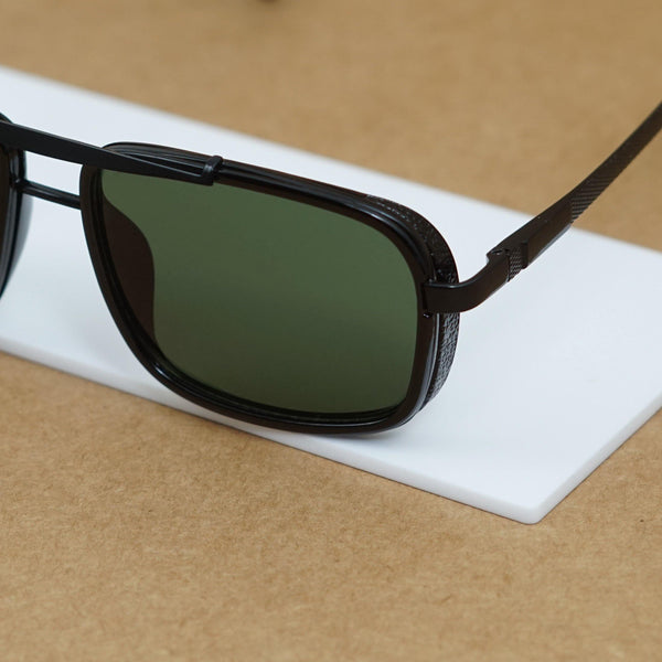 ECLIPSE BROWN RETRO SQUARE SUNGLASSES