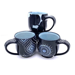 Porcelain Black Mugs