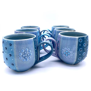 Polka Dot Striped Mandala Mugs