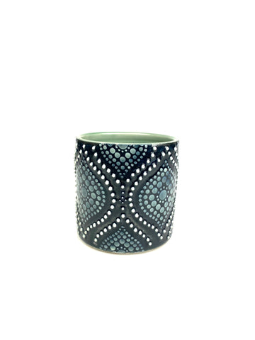 Black Ogee Green Celadon Porcelain Cup (small)