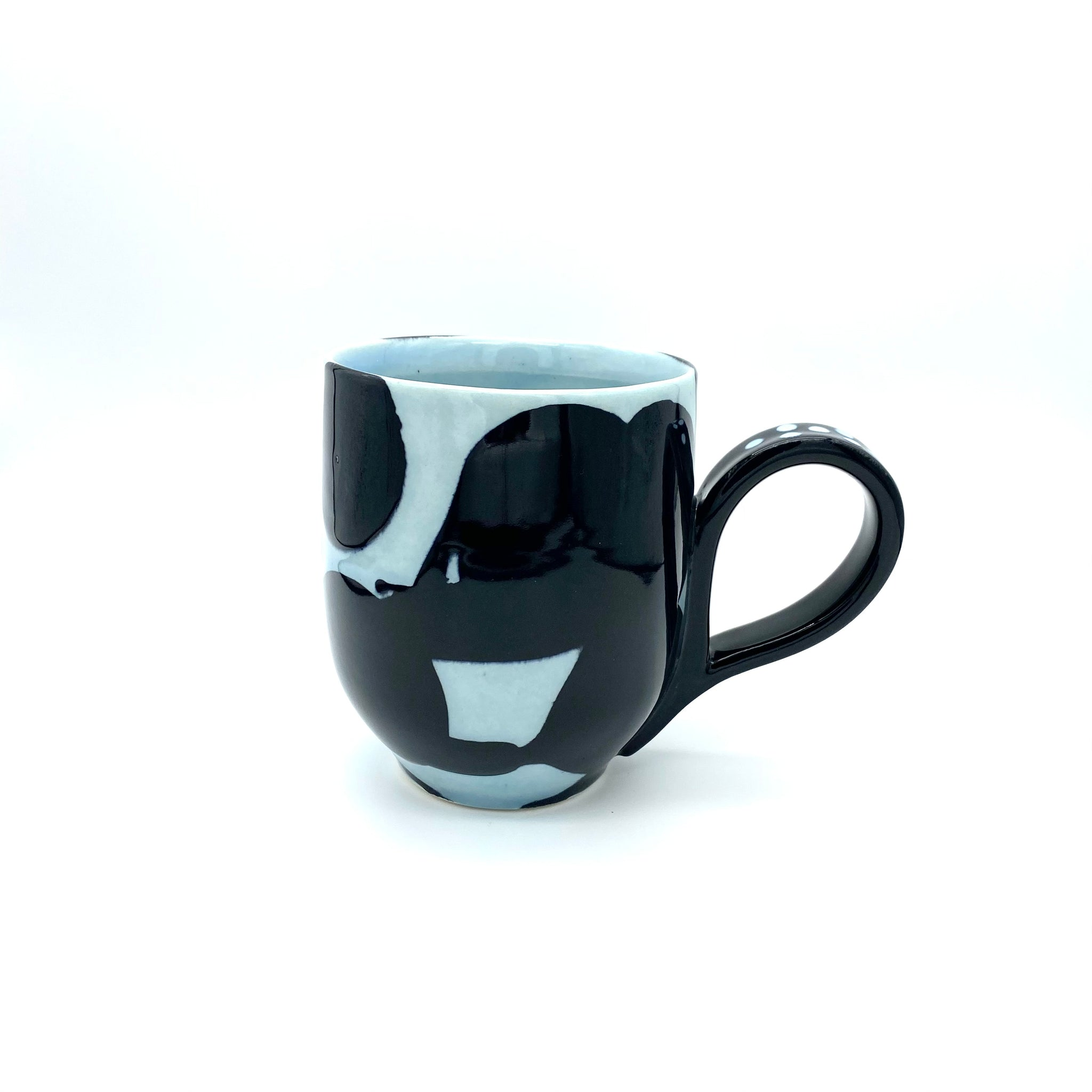 Black Water Carved Mug