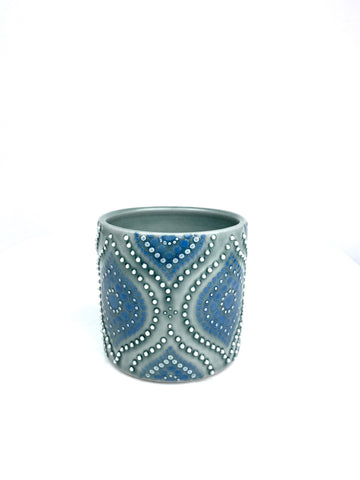 Ogee Blue Celadon/Dark Teal Porcelain Cup (small)