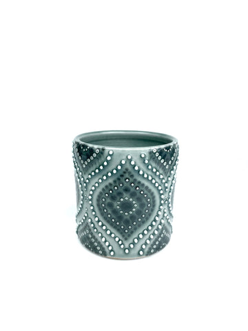 Ogee Blue Celadon / Sage Grey Porcelain Cup ( small )