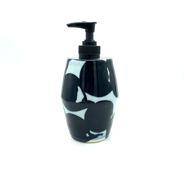 Black Water Carved Soap Dispenser