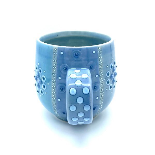 Polka Dot Stripped Mandala Mug # 1