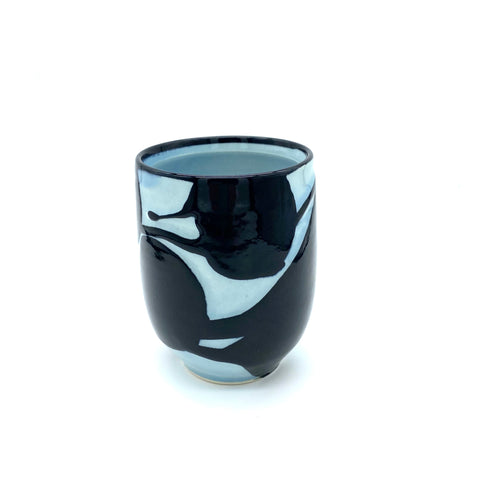 Black Water Carved Yunomi