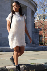 Cream Dip Textured Tunic