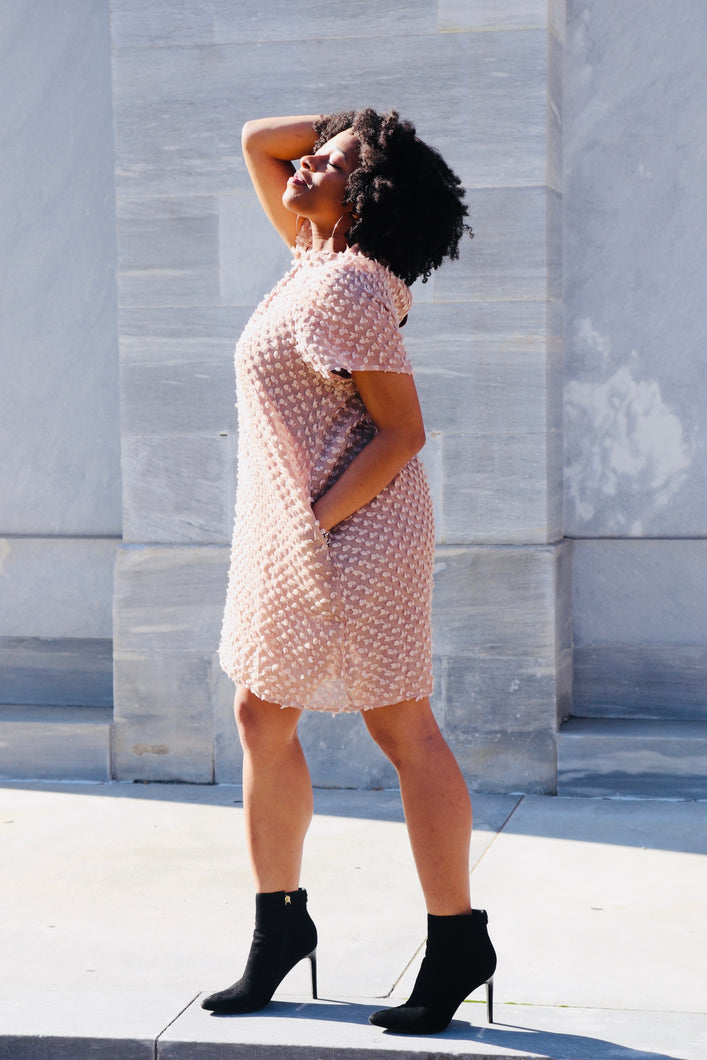 Deep Blush Textured Tunic