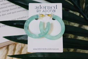 3D Mint Green Hoops