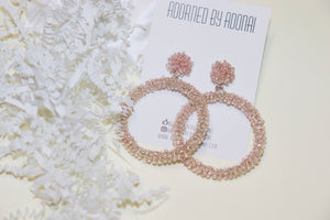 Light Pink Beaded Earring