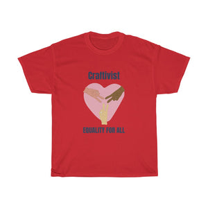 Craftivist With Heart and Hands Unisex Heavy Cotton Tee