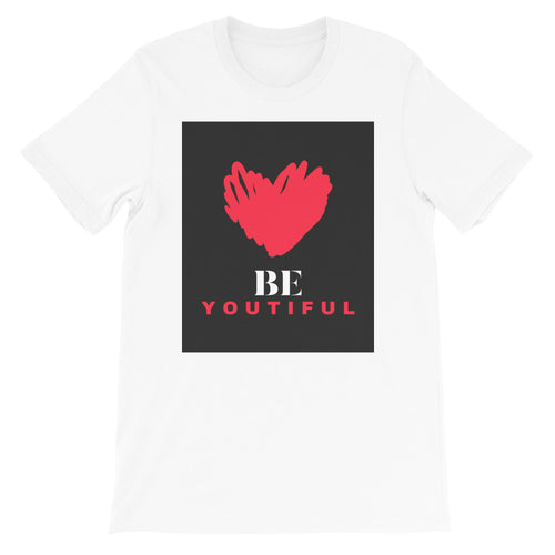 BeYoutiful Valentine's Day Woman's White Short-Sleeve T-Shirt
