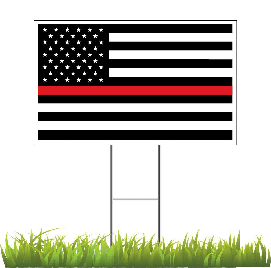 Red Line Flag In Support of Firefighters