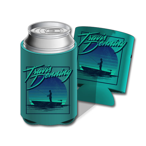 Sunset Fishing Koozie