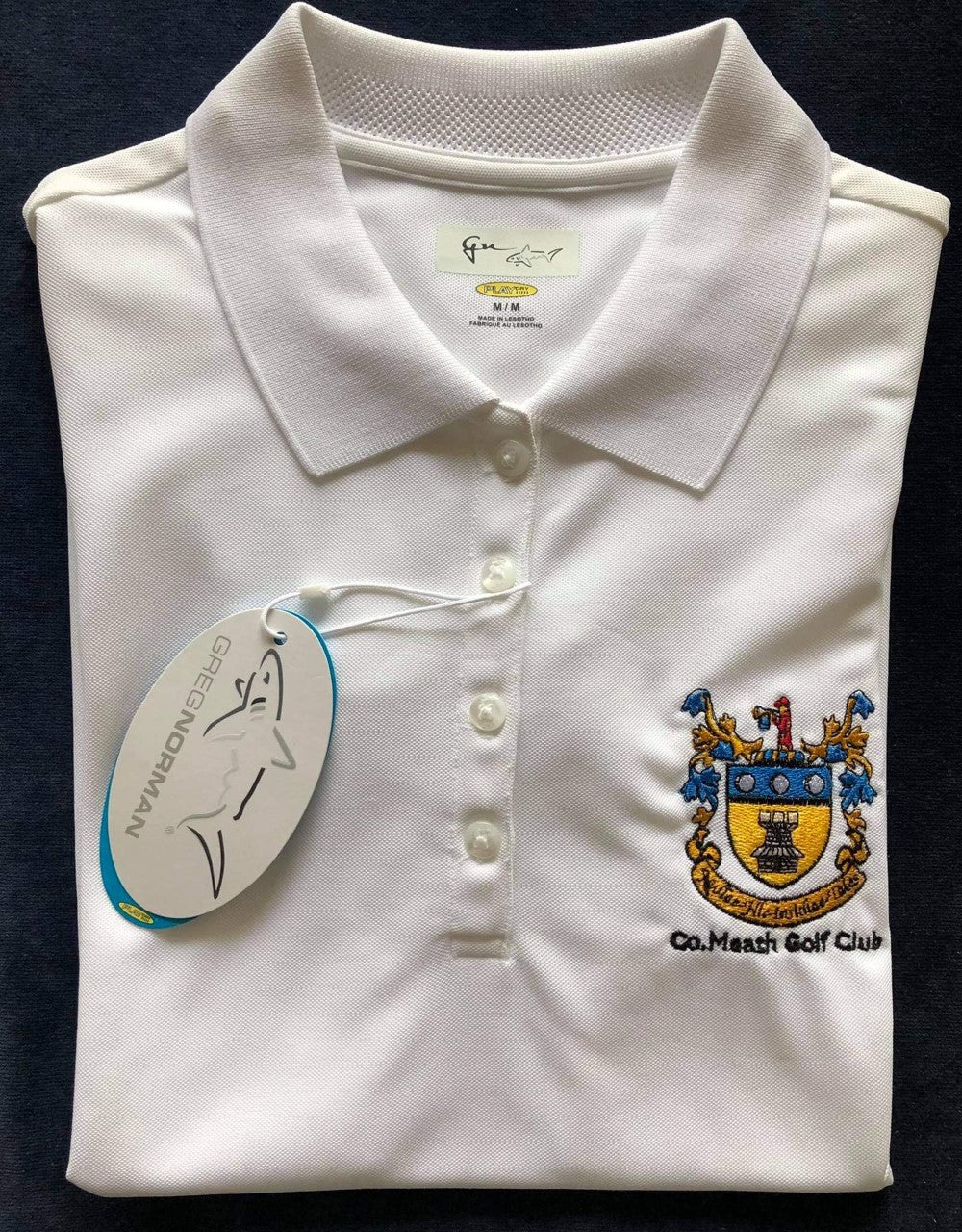 Ladies Greg Norman Sleeveless Crested Polo Shirt