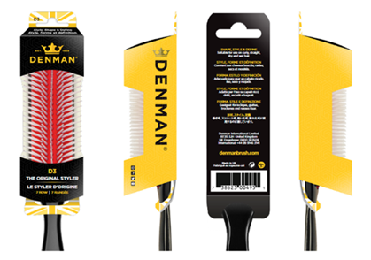 Denman D3 Original Styler - New 100% Recyclable Packaging