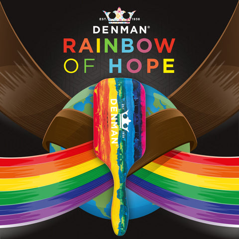 Denman D90L Tangle Tamer Ultra 'Rainbow of Hope'