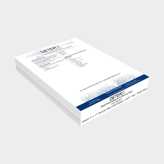 "DeterX 11"" X 17"" Security Paper (500 Sheets)"