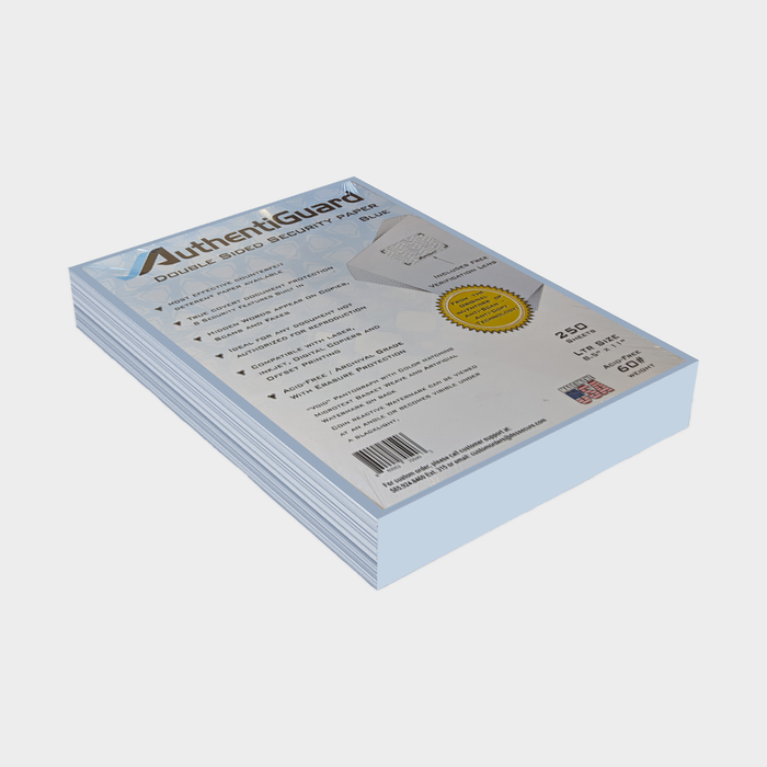 "AuthentiGuard DeterX 8.5"" X 11"" Premium Security Paper (250 Sheets)"
