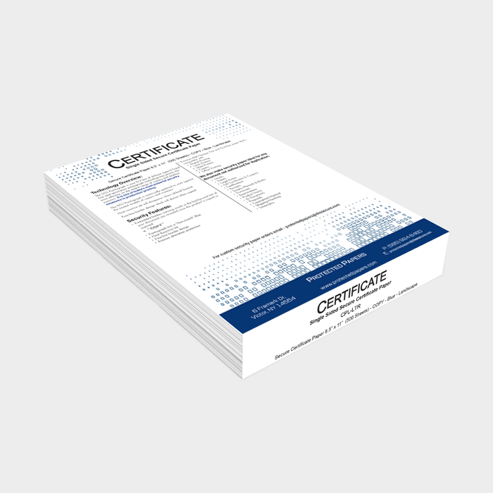 Certificate Security Paper (500 Sheets)
