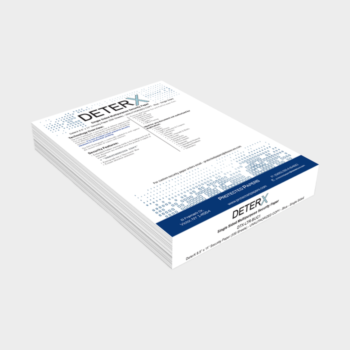 "DeterX 8.5"" X 11"" Security Paper (500 Sheets)"