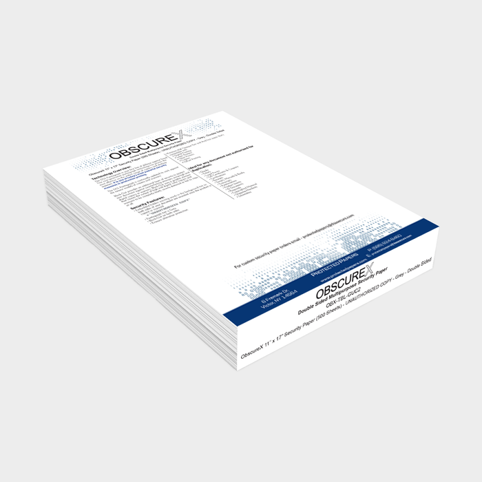 "ObscureX 11"" x 17"" Security Paper (500 Sheets)"