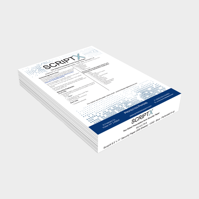 ScriptX Prescription Form Security Paper (500 Sheets)