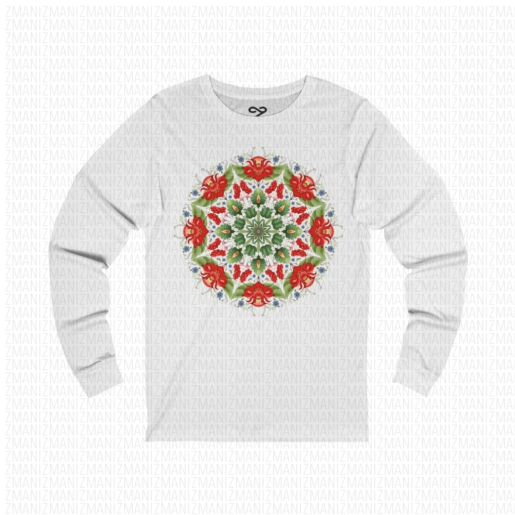 Long Sleeve Tee with Ukrainian national ornament