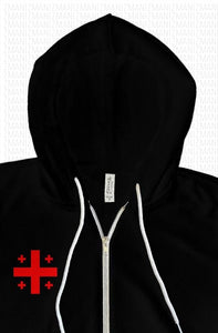 Hoodie with embroidered Georgian Flag