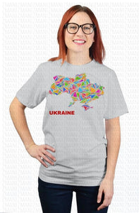 T-shirt with map of Ukraine