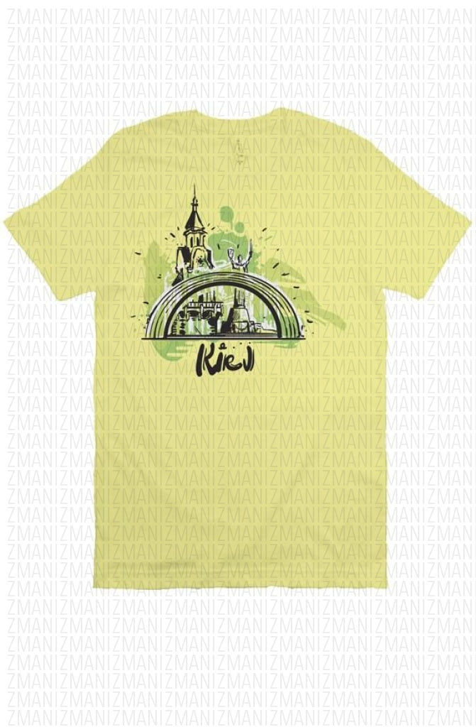 T-shirt with Ukrainian capital's skyline