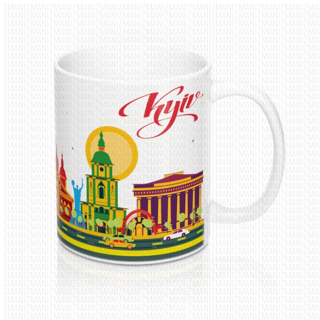 Mug 11oz With Ukrainian city of Kyiv