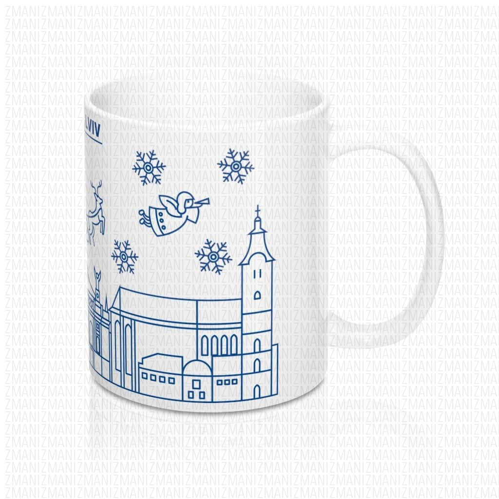 Mug 11oz With Ukrainian city of lviv