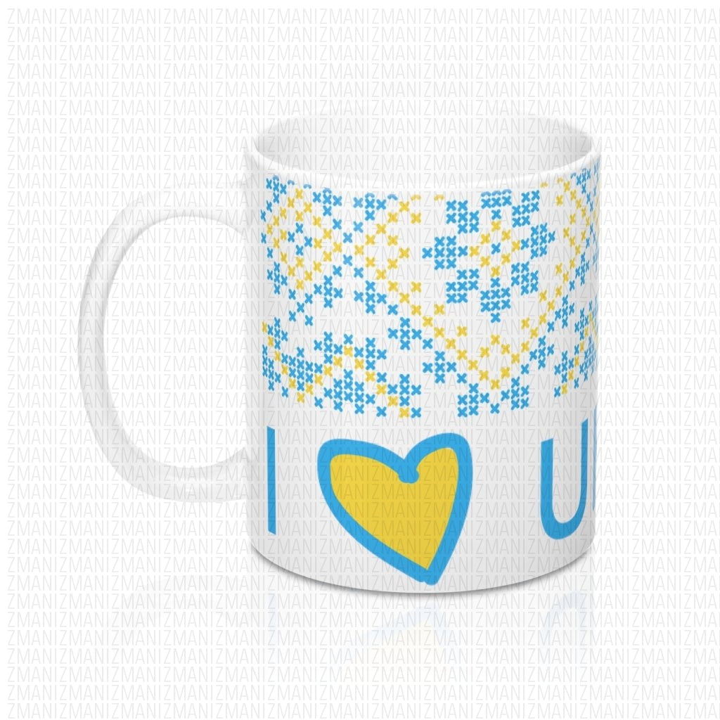Mug 11oz With Ukrainian Embroidery Ornament