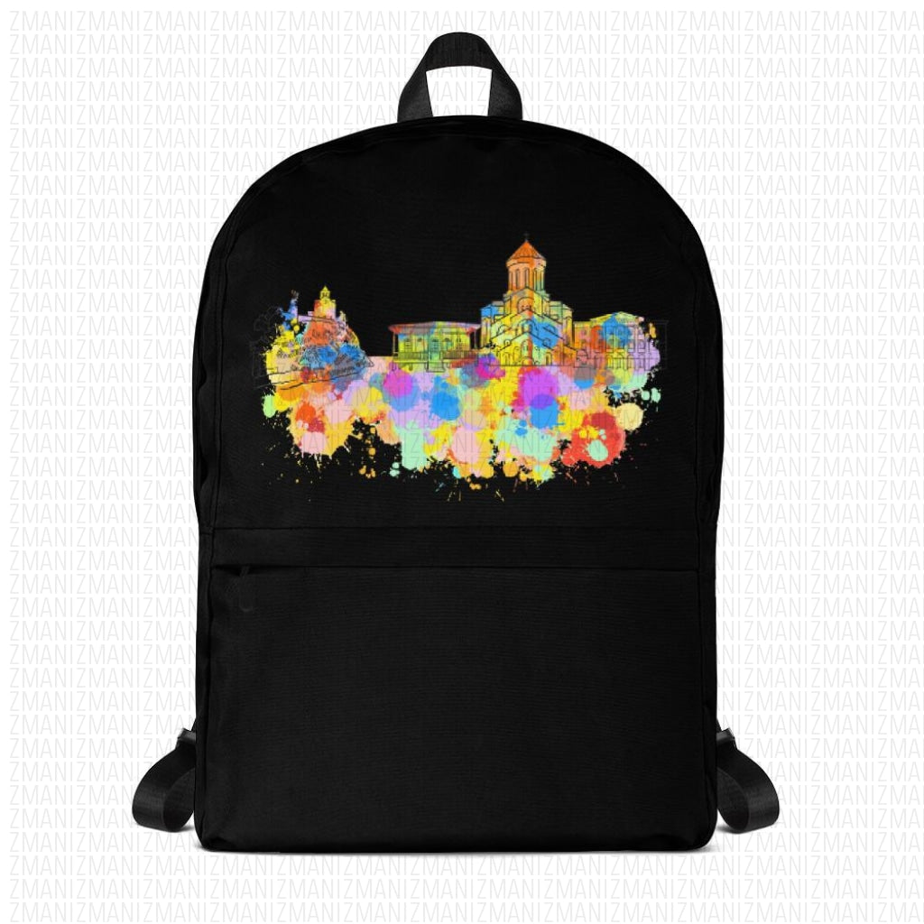 Backpack with colorfull Tbilisis skyline