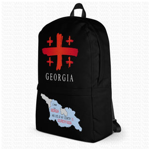 Backpack with map of Georgia