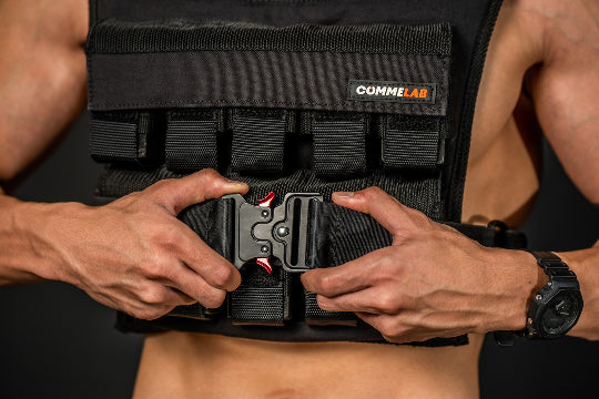 20kg weight vest with adjustable straps by Commelab Singapore