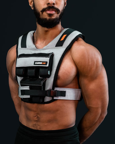 front grey weight vest comme vest 10