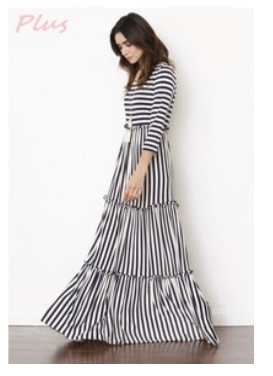 Plus size maxi strip
