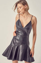 Load image into Gallery viewer, Flare mini leather dress