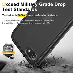 Humixx Shockproof Series Case for iPhone SE/ 8 /7 Case - 4.7 Inch, Black
