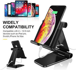 Humixx - Tablet Stand - Foldable & Adjustable Desktop Tablet Stand Holder