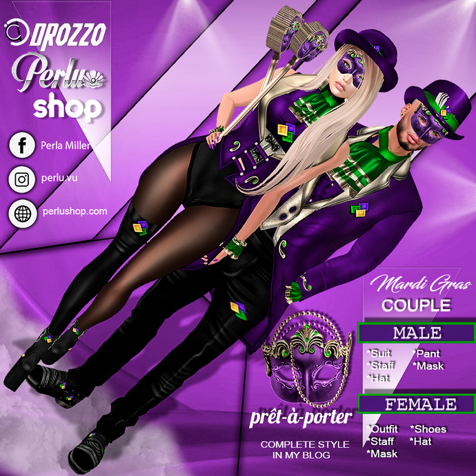 MARDI GRAS COUPLE BUNDLE |1 - PERLU | DROZZO SHOP