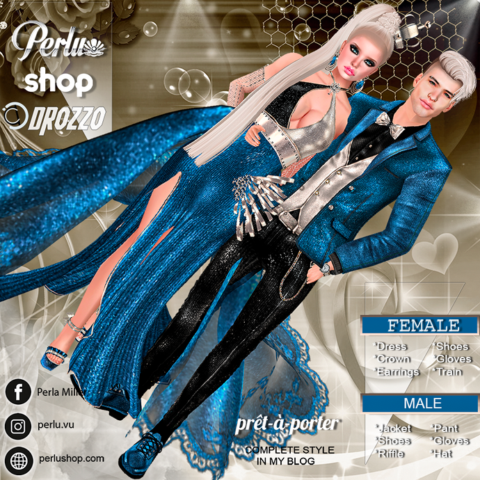 LIA SPARKLE COUPLE BUNDLE  - PERLU | DROZZO SHOP