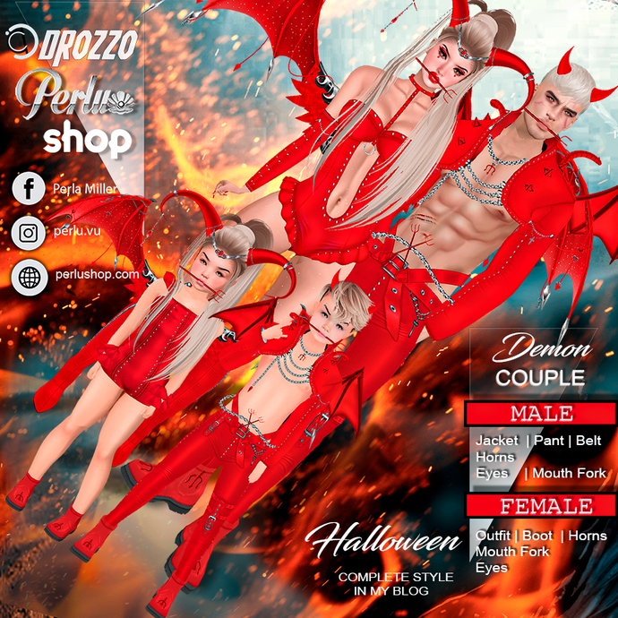 DEMON COUPLE BUNDLE - PERLU| DROZZO SHOP